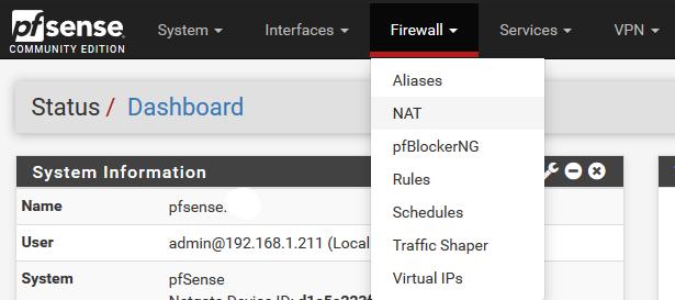 pfSense-Firewall-Nat